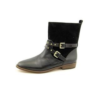 Coach Lilliana Round Toe Suede Mid Calf Boots